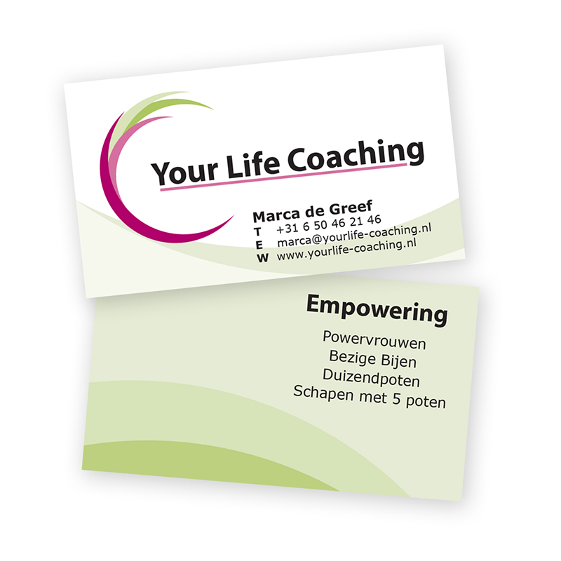 LaSirel - grafisch ontwerp - visitekaartje Your Life Coaching