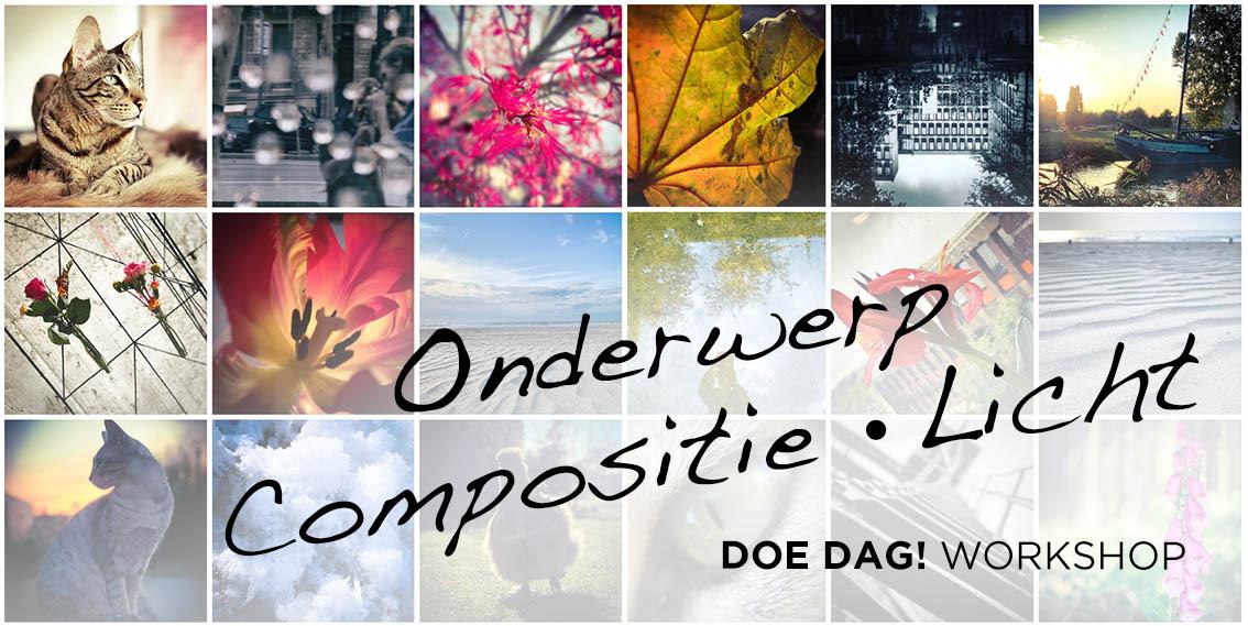 ONDERWERP • COMPOSTITIE • LICHT WORKSHOP • Beter leren fotograferen met je smartphone @ La Sirel - Creatieve Fotografie & Design.